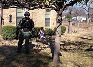 DRUG ARREST - The Wise County Sheriff's Office SWAT team raided a home in Newark Thursday afternoon, arresting a suspected drug dealer and confiscating 6 ounces of meth. Submitted photo