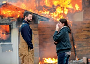 FIRST TO KNOW - Ashly Dobyns works for the Decatur Police Department. She was at the office and heard about the fire at her home directly from the dispatcher and she was one of the first on scene. Messenger photo by Joe Duty