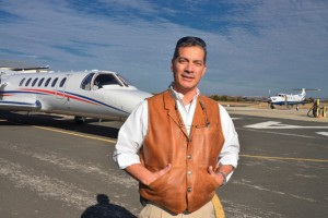 UP IN THE AIR - Fabio Labrada, owner of Decatur Jet Center, is the Fixed Base Operator for Decatur Municipal Airport. The city's Airport Manager, Mike Sayers, retired at the end of 2012 and that job will be taken over by Finance Director Brad Burnett. Labrada's company, which just got a new 10-year contract, handles fuel sales and offers flight school and airplane repair services. Messenger photo by Joe Duty