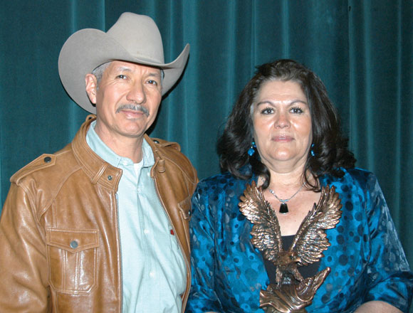 CASA TORRES - Jesus and Maria Torres left the popular restaurant long enough to pick up their award. Messenger photo by Roy J. Eaton