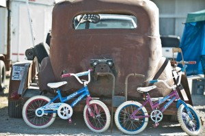 GOODIES FOR ALL AGES - With more than 3,000 vendors, the Decatur Swap Meet has items for young and old alike. Whether a swapper is in the market for four wheels or something of the two-wheeled variety, a treasure is sure to be found next weekend. Messenger photo by Joe Duty