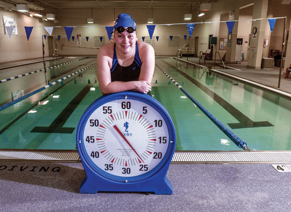 SETTING A GOAL - Katey Rowden is hoping to swim the 50-freestyle in under 25 seconds this weekend. Messenger photo by Joe Duty