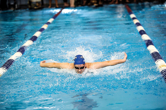 STATE BOUND - Decatur's Katey Rowden is preparing to make her second consecutive trip to the state swim meet this weekend in Austin. Messenger photo by Joe Duty
