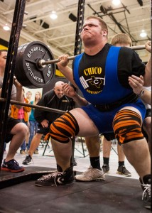 SUPER HEAVYWEIGHT - Chico's Jimmy Shuetz lifted the most total weight Thursday on his way to a first-place finish in his division Thursday. Messenger photo by Jimmy Alford