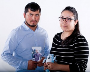 YOUNG LOSS - Armando Luna, 26, and Maria Fernanda Avina, 21, lost their 3-year-old daughter to a rare form of bone cancer last December. Messenger photo by Jimmy Alford