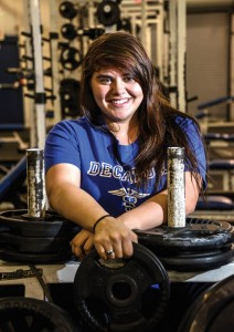 BACK TO BACK - Gabi Buchanan is on her way back to the state powerlifting meet in Corpus Christi March 16. Messenger photo by Joe Duty