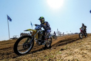 FIT RACER - Cody Williams, a member of Horton Racing, which is sponsored by Wise Regional's Fit-N-Wise, makes a lap during Saturday's Grand National Championship International Motocross Final at Oak Hill Raceway Saturday. Messenger photo by Joe Duty