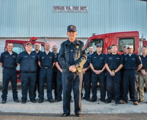 LEAD BY EXAMPLE - For 50 years Newark Volunteer Fire Department Chief James Edgemon has volunteered for the department. He still continues to be the department's No. 1 responder, arriving at 92 percent of all calls the department received last year. Messenger photo by Joe Duty