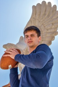 LEAP FROG - Decatur Eagle Grayson Muehlstein has found his next roosting place at TCU. Messenger photo by Joe Duty