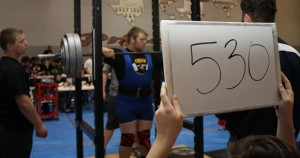 READY TO GO - Chico's Jimmy Schuetz gets ready for a squat attempt at the regional meet Saturday. Submitted photo