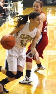 TOP SPOT - Alvord's Carley King was named District 9-2A MVP earlier this week. King helped lead the Lady Bulldogs back to the regional finals. Messenger photo by Mack Thweatt