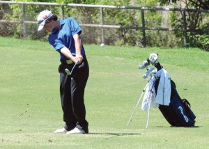 DEFENDING CHAMP - Decatur Dylan Rottner will look for his third district title at the District 9-3A golf tournament Monday and Tuesday. Messenger photo by Joe Duty