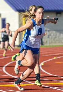 GREAT PERFORMANCE - Brianna Compton garnered five medals Thursday at the district meet. Messenger photo by Joe Duty