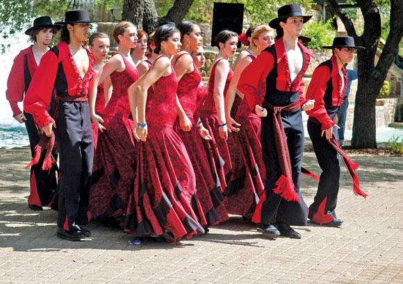 LOS MADRILENOS - The Decatur High School flamenco dance team includes Madeline Pena, Mirtha Camacho, Jessica Velazquez, Garrett Bowen, Will Cryer, Robert Davila, Baylie Gilbert, Gabe Guia, Emily Howdeshell, Alexis Little, Christy Mahaffey, Baley Phariss, Josh Santos, Savanna Seckel, Tim Slimp and Hannah Solis. Photo courtesy of Allie Davis