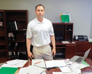 NEW MAN IN CHARGE - Britt Hart is excited about his new role as Paradise's new Athletic Director. He began his duties last Wednesday. Messenger photo by Joe Duty