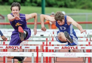 SILVER MEDAL - Decatur's Jacob Kevetter raced his way to a second-place finish in the 110 hurdles. Messenger photo by Joe Duty