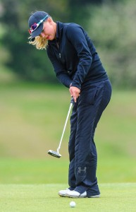 TOP SPOT - Bridgeport's Lexi Read narrowly misses a putt during the first round of the District 9-3A Tournament Monday. Read took the overall girls title and the Sissies finished first as a team. Messenger photo by Joe Duty