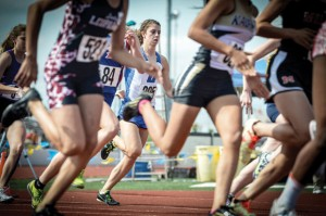 GOLDEN FINISH - Haley Dennard pulled away down the stretch to claim gold in the 800 meter run. Messenger photo by Joe Duty