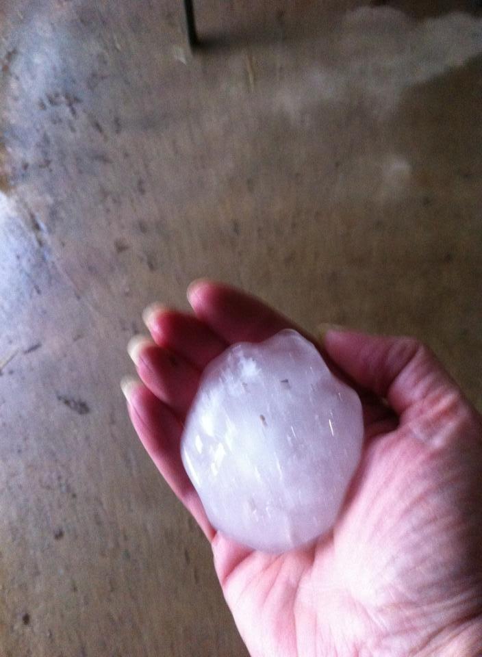 Hail near Bowie