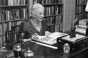 Pearl Buck at her desk