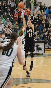 SHARP SHOOTER - Alvord's Carley King led the state in three-pointers last season. Messenger photo by Mack Thweatt