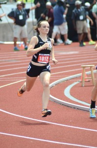 SILVER MEDAL - Alvord's Savannah Williams captured second in the 800 meter run Saturday at the state meet in Austin. Messenger photo by Mack Thweatt