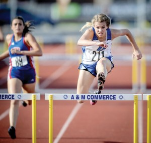 STATE BOUND — Decatur's Nicole Neighbors is heading to the state meet after finishing second in the 100 and 300 hurdles. Messenger photo by Joe Duty