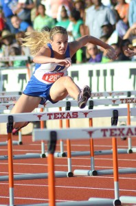 STATE DEBUT - Decatur's Nicole Neighbors finished fourth in the 300 hurdles and seventh in the 100 hurdles in her first trip to the state meet. Messenger photo by Mack Thweatt