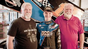 FAMILY TRADITION - Payton, along with his father Richard and grandfather Phillip make up three generations of racing. Richard is Payton's crew chief and car owner. Messenger photo by Jimmy Alford