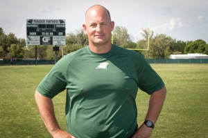 TAKING CHARGE - After eight years as an assistant, Scott Broussard gets his chance as Athletics Director for Paradise ISD. Messenger photo by Jimmy Alford