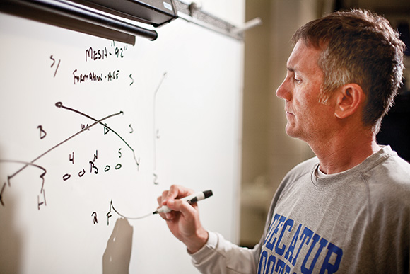 Offensive Mind - Decatur's new offensive coordinator Jayson Lavender hopes to draw up a lot of success when the Eagles take the field this fall.