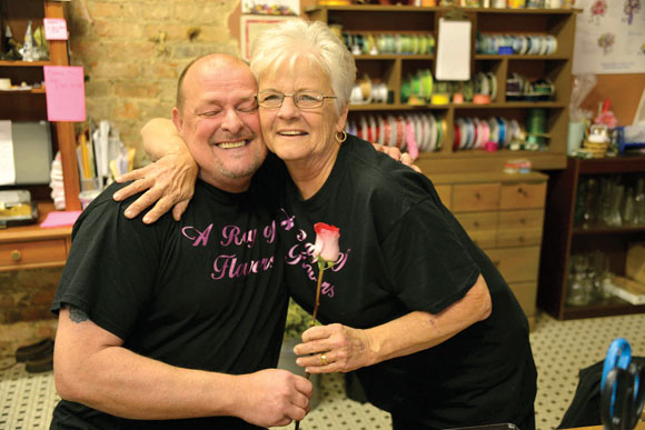 Ray and Pat Cornelison for a Mother's Day feature. Messenger photo by Joe Duty