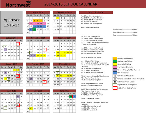 Northwest Calendar