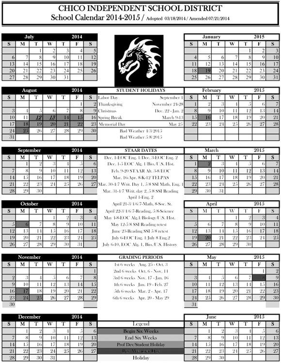 Chico Calendar